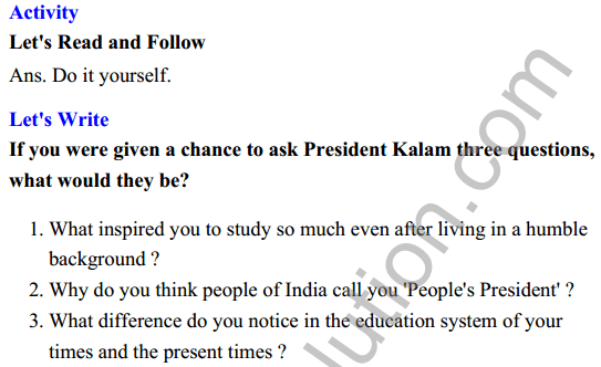 UP Board Class 8 English Solutions Rainbow Chapter 8 The Missile Man of India 6