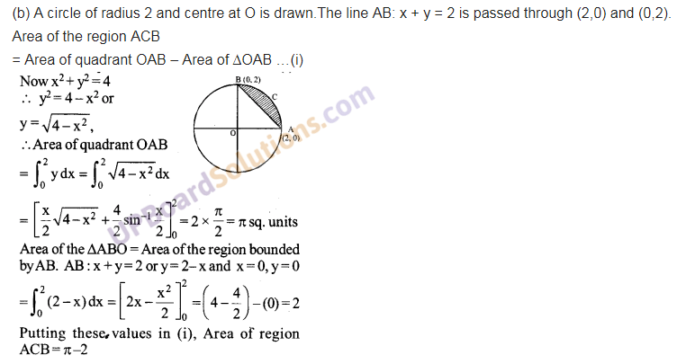 UP Board Solutions for Class 12 Maths Chapter 8 Application of Integrals image 32
