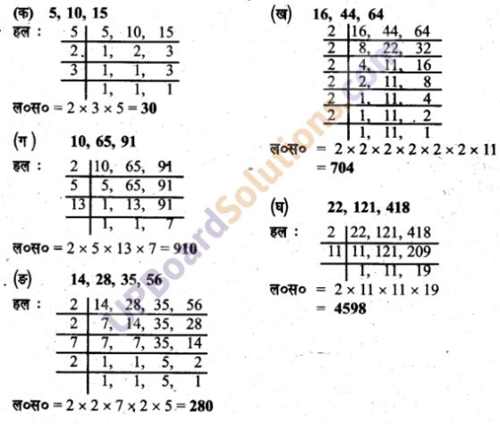 UPboardsolution.Com Class 6 लघुत्तम समापवर्त्य एवं महत्तम समापवर्तक Chapter 10