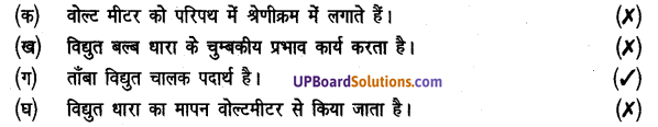 UP Board Solutions for Class 8 Science Chapter 13विद्युत धारा img-2