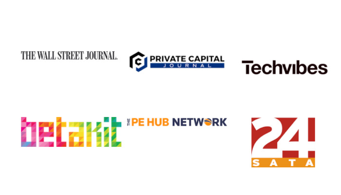 News publications: The Wall Street Journal, Private Capital Journal, Techvibes, Betakit, The PE Hub Network, 24Sata.