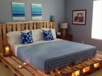 Pallets Made Beds Lighting Ideas | Upcycle Art