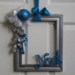 Folding Chair Upcycle Backless Desk Christmas Decorations With Old Photo Frames | Art