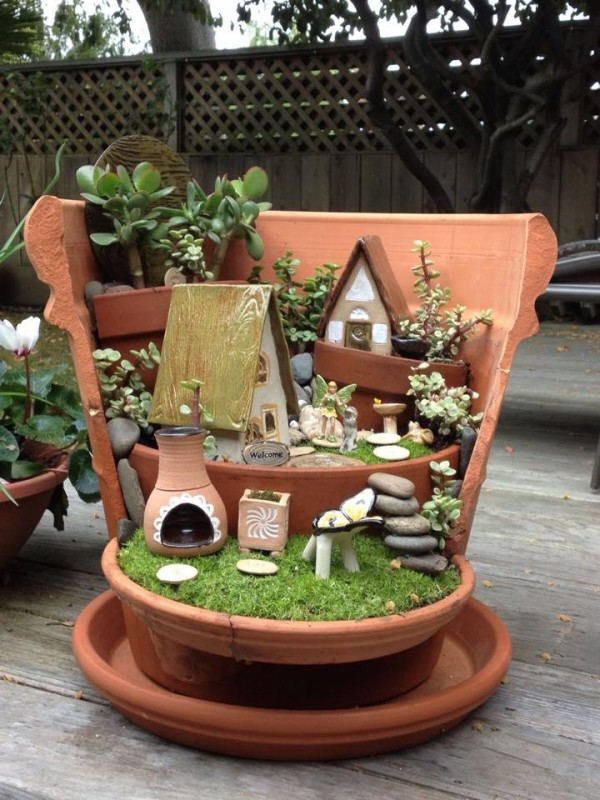Ideas For Mini Gardens Upcycle Art