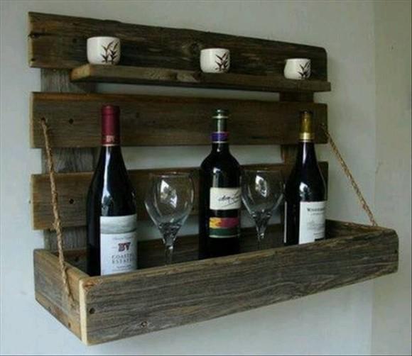 Pallet Wine Racks and Bar Ideas