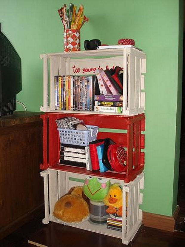 Recycled Wood Pallet Crates Shelves Upcycle Art