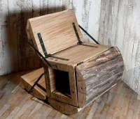 Architectural Wooden Folding Chair