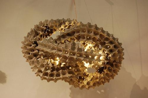 reciclar cartón de huevos lámpara colgante creativo del arte amazinng