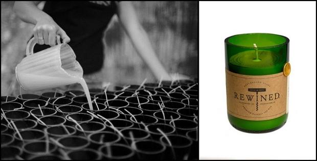 reutilización de vino botellas de vidrio cera de vela idea mecha casera barata