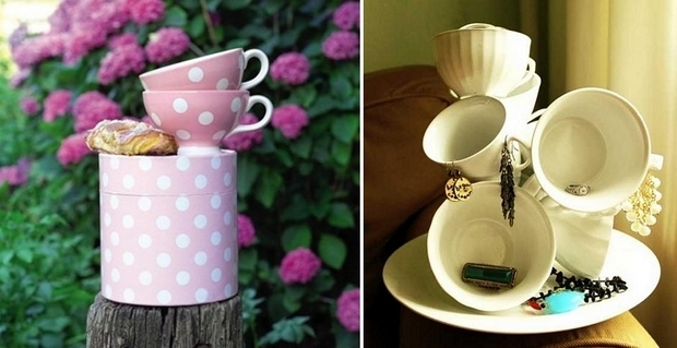 tazas de té de reutilización colorido decoración bricolaje Ideas hechas en casa