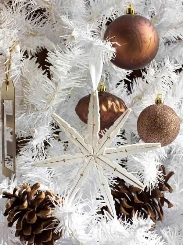 pinza de la ropa artes de la Navidad idea de decoración fácil de hacer proyecto de bricolaje