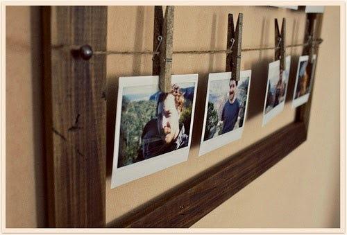 DIY titular fácil foto hecha de pinzas de la ropa reutilizados idea de decoración para el hogar bricolaje