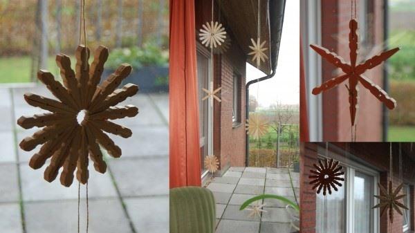 pinza de la ropa al aire libre de la decoración de Navidad barato Ideas upcycling creativa
