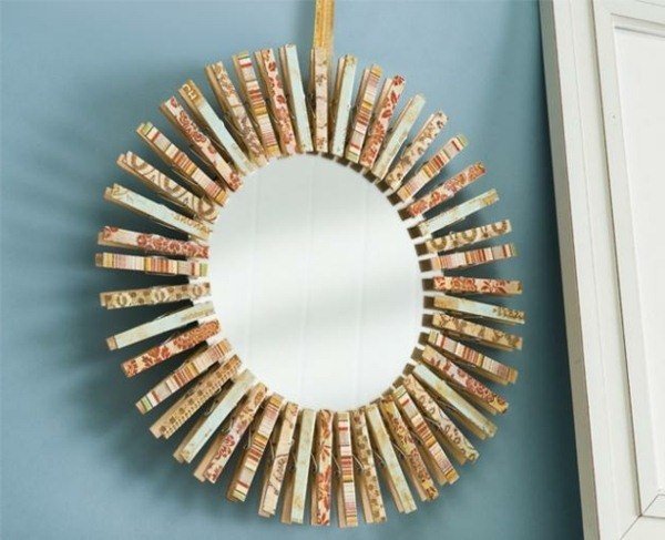 artesanías pinza de ropa que cuelga de la guirnalda de bricolaje decoración de la pared