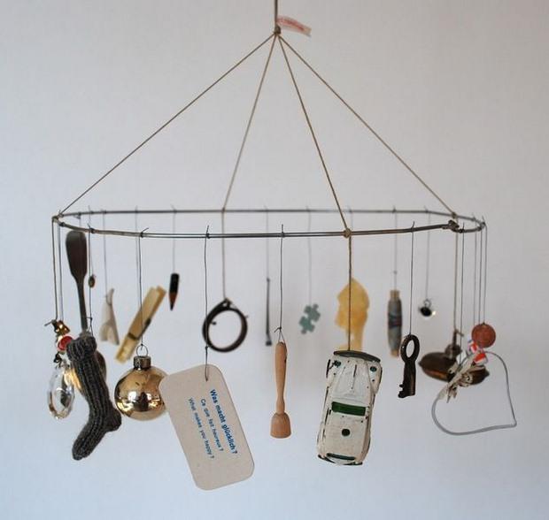 reutilizados viejos juguetes sin usar llaves lápices clohespins anillos clave en la artesanía carillón de viento Ideas