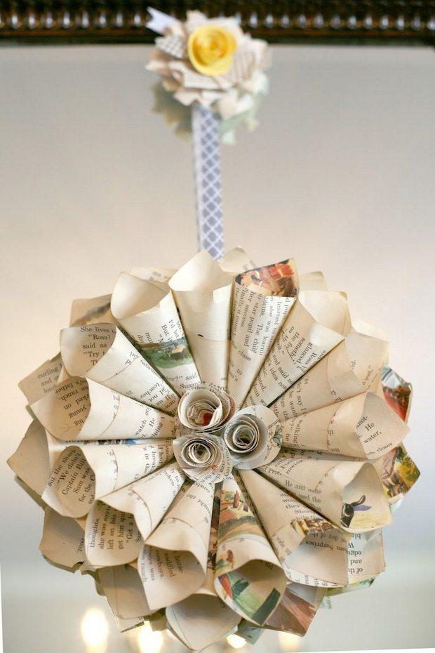 página del libro de roseta adornos de navidad reciclados ideas creativas de artesanía de papel bola del árbol de enrollado