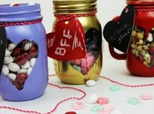 Valentine's Day Crafts - 12 Glass Jar Decorations and Gifts