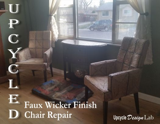 Upcycled Chairs with Faux Wicker Finish