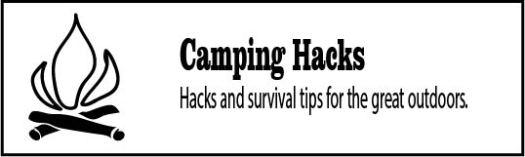 Hacks for camping using upcycled materials