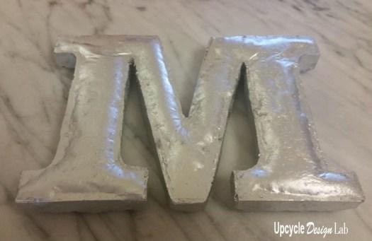 Plastic M made from styrofoam