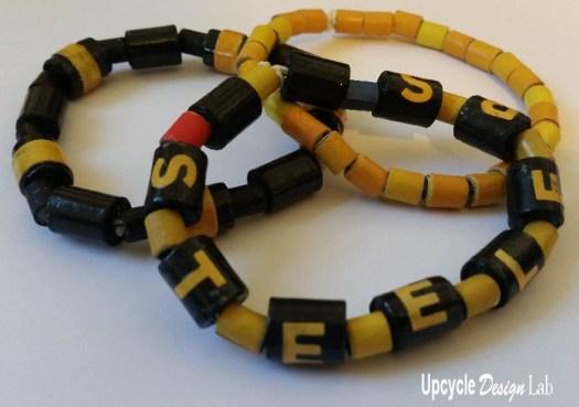 Steeler fan bracelet
