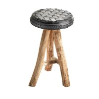 STOOLS: recycled bike inner tube and tyre by Marron Rouge