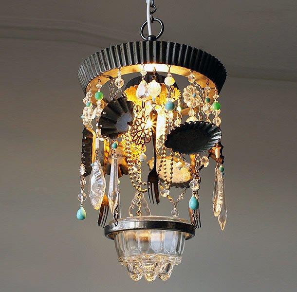 A Feast Of Objects Chandeliers By Madeleine Boulesteix Upcycledzine