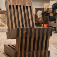 Easy Rider: chair made out of old planks by Sandman