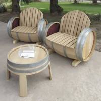 Wine Barrel Furniture by Balk en Plank