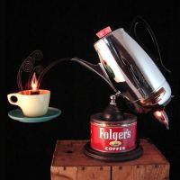 Upcycled Vintage Percolator lamp by Benclif Designs