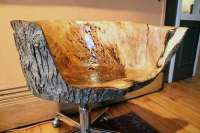 Salvaged Maple Sculpted Chair by Rong Designs