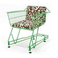 ANNIE: shopping cart turned into chair by Max McMurdo