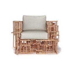 Outdoor Dream Chair Denim And A Half American Pipe Copper Piping Furniture By Brc Designs Upcycledzine