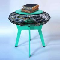 How to use a fan guard to create a multifunctional side table