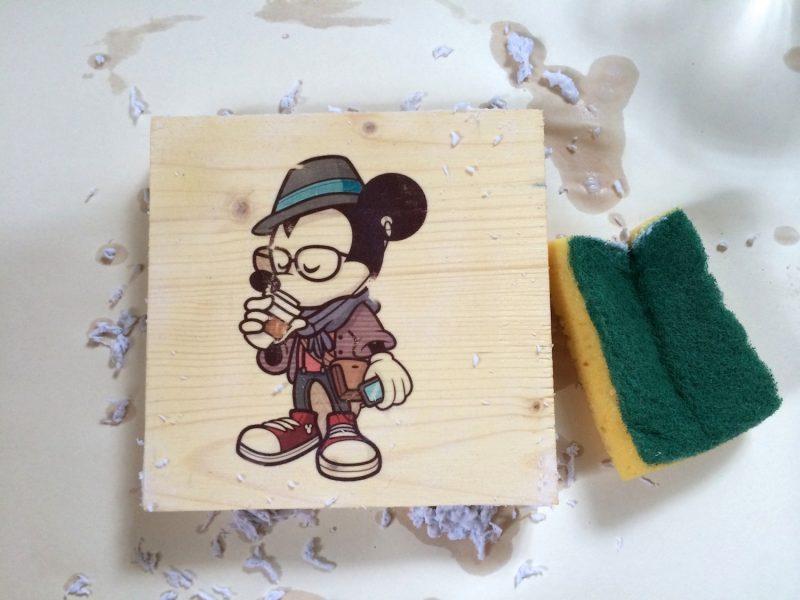 Holzdruck Bild auf Holz übertragen