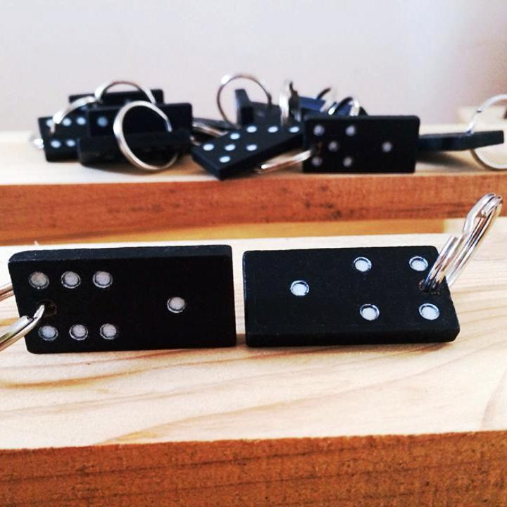 Dominosteine Schlüsselanhänger