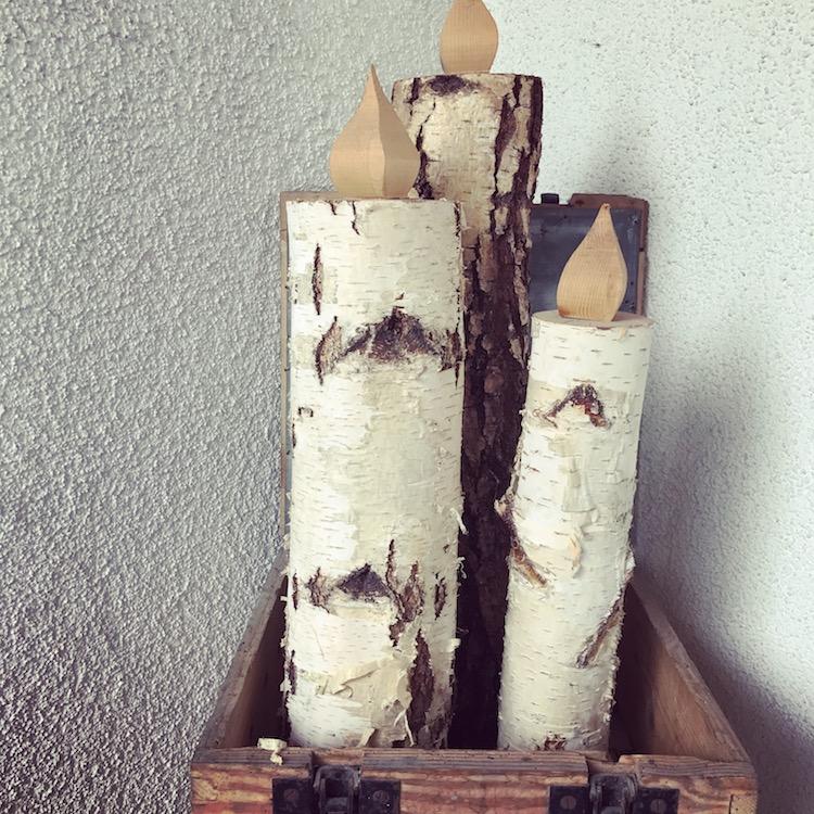 Kerzen aus Holz