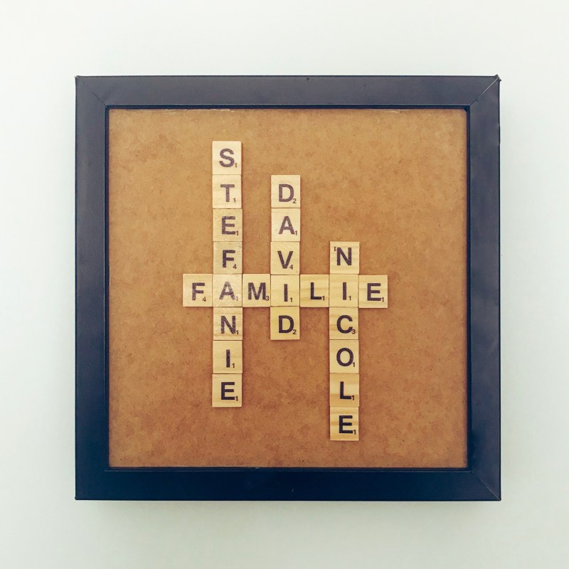 Scrabble Name Familie Bild