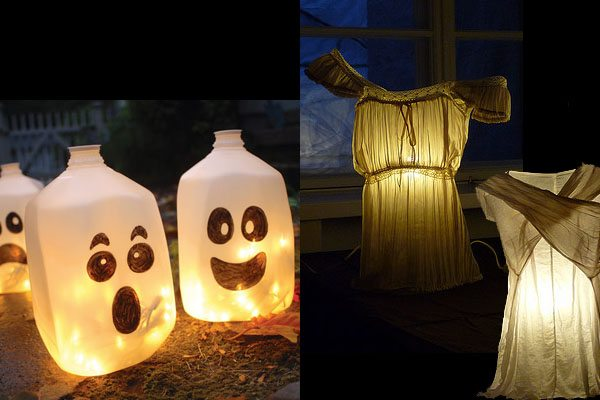 kids ghost chair side tables with storage upcycled halloween decorations | upcycle that
