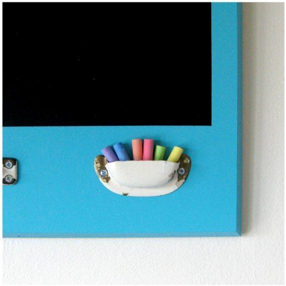wooden cabinet door chalkboard