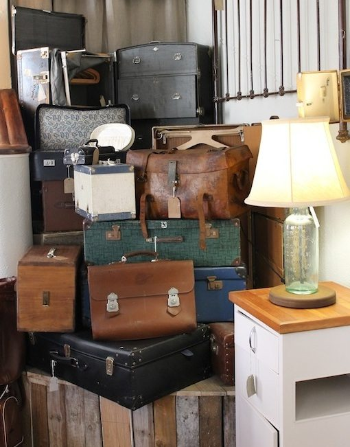 recreate furniture. recreate is an upcycleru0027s dream itu0027s filled with gorgeous repurposed suitcase chairs milk bottle lamps clocks bucket stools and ottoman tubs furniture