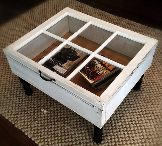 window coffee table upcycle that
