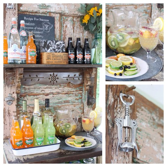 Upcycled Vintage Door Beverage Bar Upcycle That