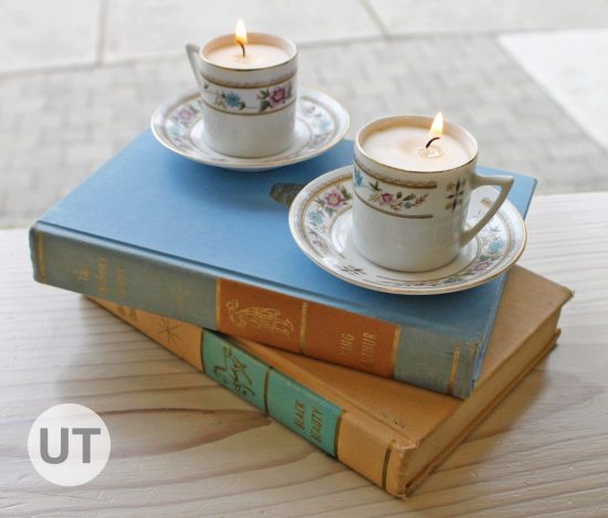 Teacup Candles Tutorial   Upcycle That