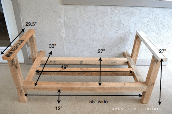 Pallet Wood Sofa Upcycle That