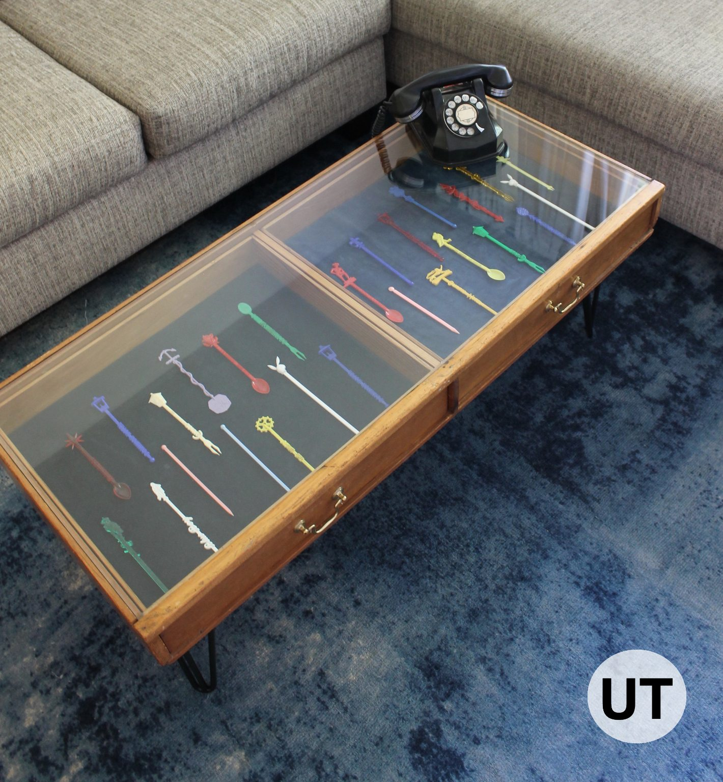 This Upcycled Coffee Table Is Awesome. We Made It From An Old Drawer! Itu0027s  The Perfect Coffee Table For Showcasing A Collection. We Love That It Can  Display ...
