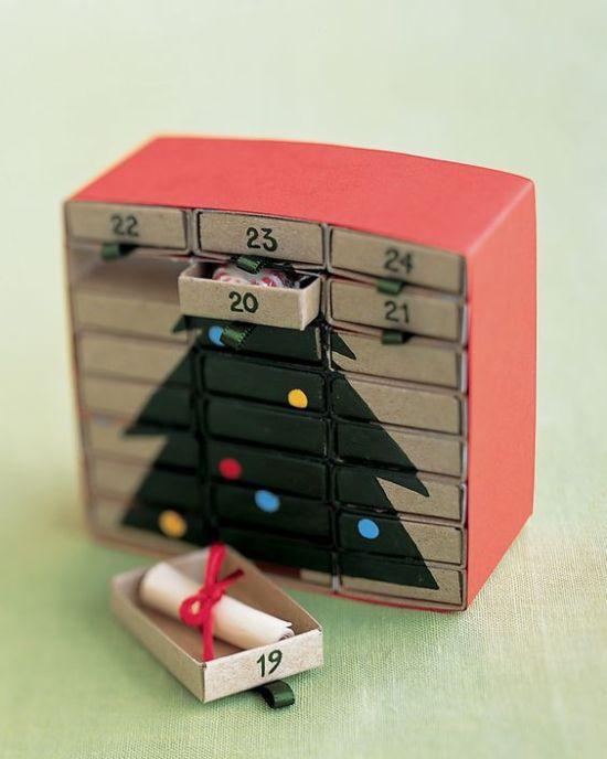 Diy Advent Calendar Drawers : Advent calendar ideas upcycle that