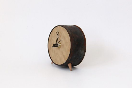 Clock No.7 – Oak and Black