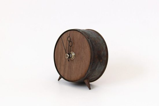 Clock No.7 – Black and Walnut