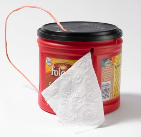 Camping hacks - toilet paper holder